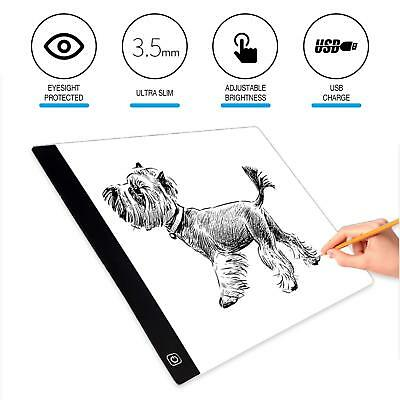 A4 LED Artist Thin Art Stencil Board HD Light Box Tracing Drawing Board Table AU