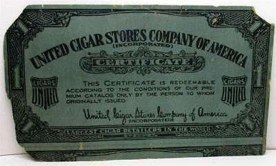 Very Old United Cigar Store Cardboard Sign