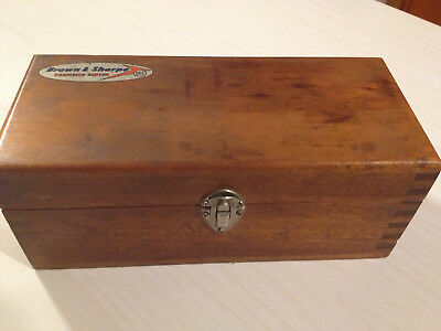 "VINTAGE BROWN & SHARP MICROMETERS IN DOVETAIL WOODEN CASE 0 TO 1"" 1 TO 2' 2 to 3"