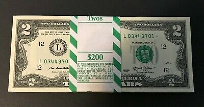 2013 2$ ✯STAR NOTES✯ Two Dollar Bills Sequential UNC RUN 1,200.00 San Francisco