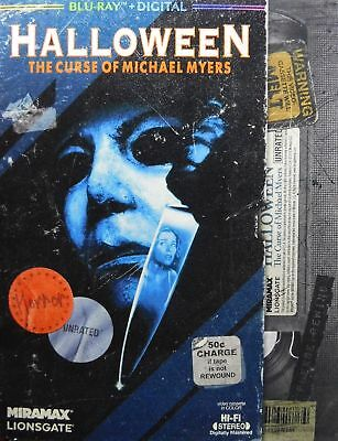 Halloween 6 Curse of Michael Myers Blu-ray NEW Unrated Producer's Cut Slipcover