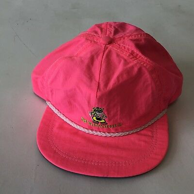 9d40a5fbe63 Vintage Imperial Headwear  Springhill  Hat Leather Strap Pink Nylon Made USA