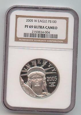 2005 W - 1 oz. Proof Platinum American Eagle $100 - NGC PF 69 Ultra Cameo