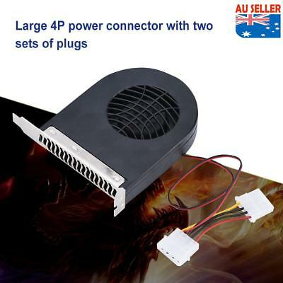 System PCI Slot Blower CPU Case DC Cooling Fan 12V 4pin Cooler For PC Laptop New