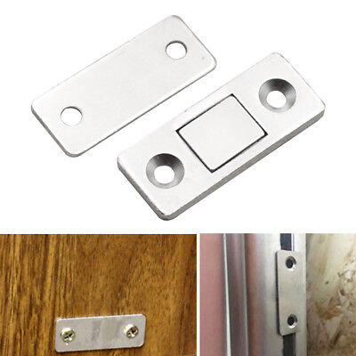 2-10X Magnetic Catch Latch Ultra Thin Strong Magnet Door Cabinet Cupboard Home