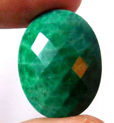 100% Natural Faceted Beryl Emerald Gemstone 20 ct 23x17mm AQ675