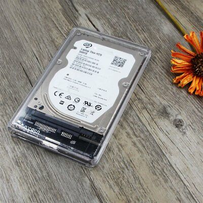 "Transparent USB 3.0 to Sata 3.0 HDD Case 2.5"" Hard Drive Enclosure Speed 5Gbps A"