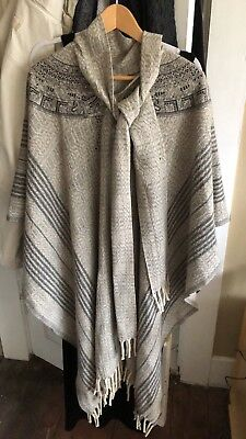 Wool Mexican Poncho