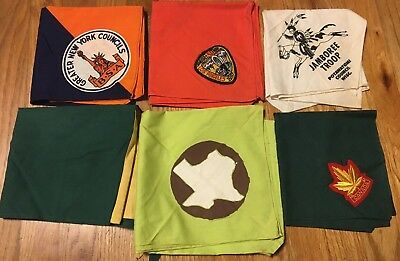 Vintage Lot of 6 Boy Scout neckerchiefs from 1957 National Jamboree,Valley Forge