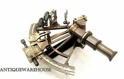 Collectible Handmade Antique Solid Brass Sextant Vintage Marine Ship Gift Decor