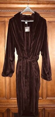 Luxury Plush Long Robe in Wine from Restoration Hardware, Size X-Large NWT