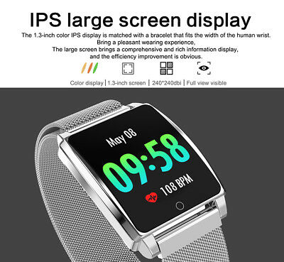 Impermeabile Bluetooth Smart Watch frequenza cardiaca Sport per ios Android HTC
