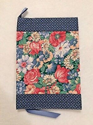 Privacy Fabric Book Cover for mass market paperback, pink/blue floral
