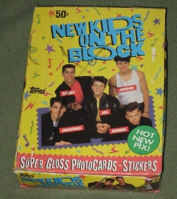 1989 Topps New Kids On The Block Trading Cards FullBox 36 Packs (288 cards)