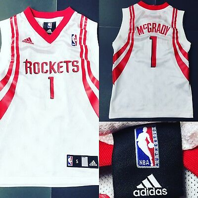 03f9bd718 Houston Rockets Tracy McGrady 1 NBA Basketball Youth Sz Small Sewn Adidas  Jersey