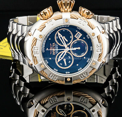 Invicta Mens 52mm Thunderbolt Swiss Chronograph MOP Dial Stainless St 500M Watch