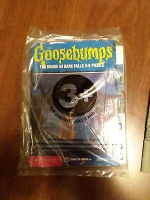 TACO BELL GOOSEBUMPS The House in Dark Falls 3D Puzzle 1997 original pkg.