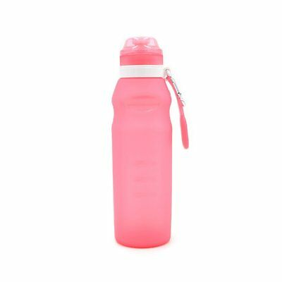 Reusable Sports Travel Portable Collapsible Folding Drink Water Bottle AZ