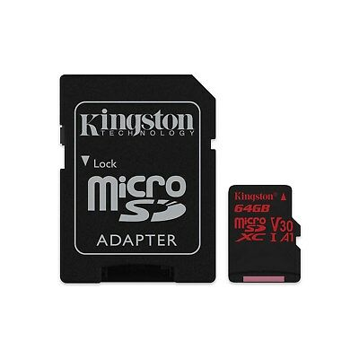 Kingston (64gb) Micro-Sd Karte mit Adapter Klasse 10 Uhs-1 U3