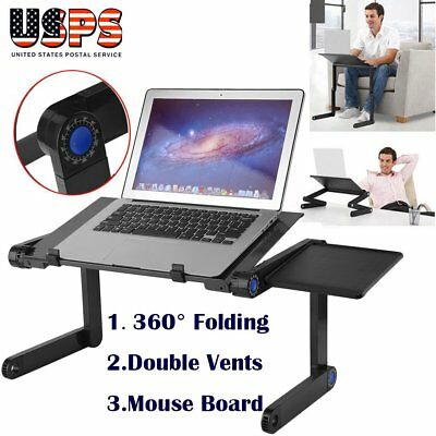 Portable Folding Laptop Notebook Table Stand Tray Desk Mouse Board - Sofa Bed BE
