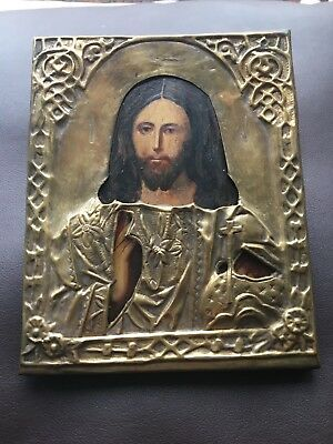 Antique icon 19th century 100% original, Icon Of Jesus
