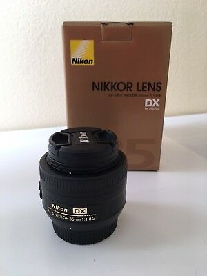 Nikon AF-S DX NIKKOR 35mm f/1.8G Lens, Like New, Box
