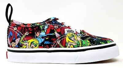 5b7c4f6be42 VANS Authentic Elastic Laces Marvel Multiple Women Shoes Toddler VN0A38E8U41