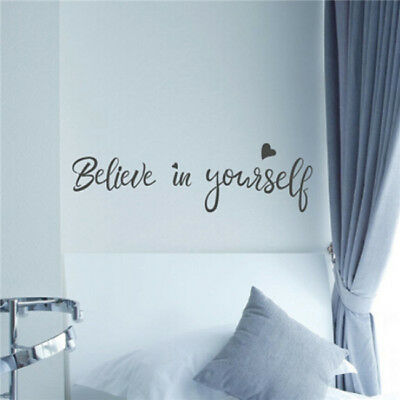 Believe In Yourself Inspirational Quote DIY Wall Decal Sticker Art Saying SO