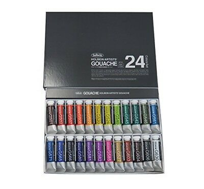 Holbein Artists' Gouache Opaque Water Colors G715 24 colors set 15ml tube