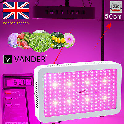 VANDER 2000W LED Grow Light Full Spectrum Hydroponic Medical Plant Grow Bloom FR