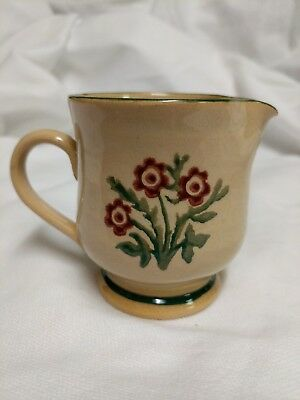 Vintage Nicholas Mosse Pottery Red Floral Cream Pitcher Made in Ireland Perfect