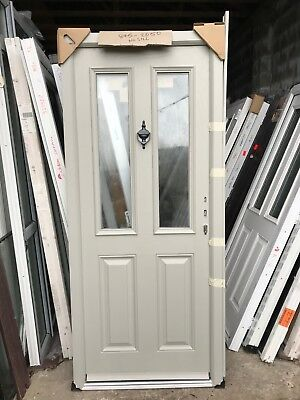 various colors b4437 3f2a8 SILK GREY ( Ral 7044 )Composite Door In Matching Upvc Frame 895-2050 No Sill