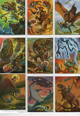 Mars Attacks! Occupation - Complete 9 Card Dinosaurs vs Mars Attacks Chase Set