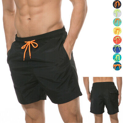 Mens Swim Trunks Bathing Suit with Mesh Lining Quick dry Beach Shorts Soft Comfy