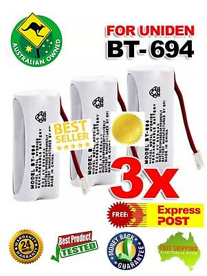 3x 650mAh Replacement For Uniden Cordless Phone Battery BT-694 BT-694S 2.4V