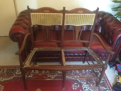 Arts And Crafts Settle/Settee For Reupholstery. Upholstery Project. Antique. NR