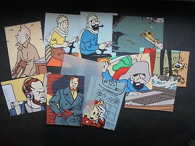 Tintin Spirou 10 Cartes Postales Publicitaires Archives Internationales Ttbe