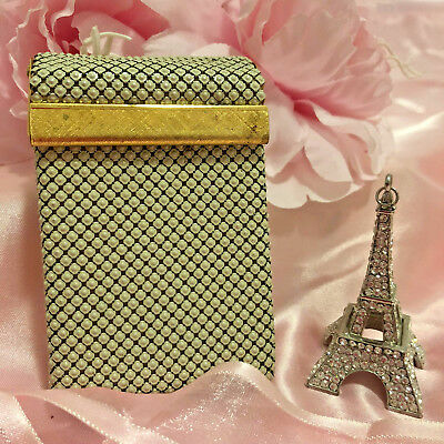 Lovely Cream Mesh Cigarette Case in good condition. Don't miss out!