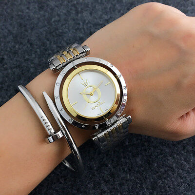 New Women Stainless Steel Quartz PD Rotatable Wristwatch Bear Watch