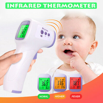 Digital Medical Infrared Forehead Non Contact Thermometer Monitor Fever Clinical
