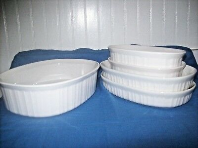 Corning French White Oval Bowls - 5