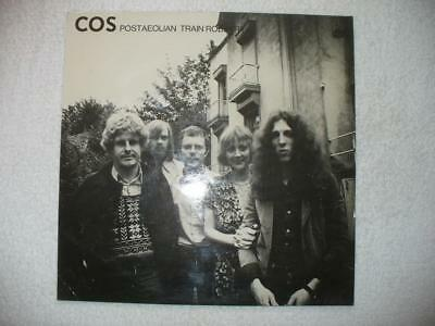 """Cos """"postaeolian Train Robbery"""" 1974 Bel Orig. Lp Cover Only Placebo Moulin Prog"""