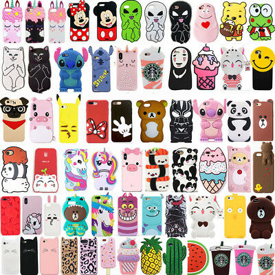 New Hot Pop Cute 3D Cartoon Soft Silicone Phone Case Cover For iPhone SE 5 5s 5c