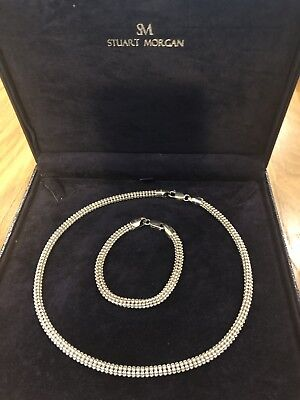 Silver 925 Necklace And Bracelet Set