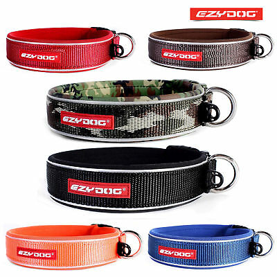 EZYDOG NEO CLASSIC DOG COLLAR High Quality, Black Reflective 3XL 72-84 CM NECK