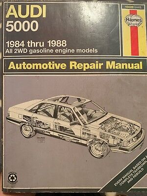 Audi 5000, 1984 Thru 1988 Haynes Repair Manual (5000s Including Wagon & Turbo)