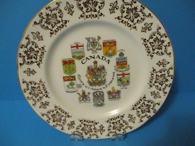 Paragon 8 Inch Plate  Canada Coats Of Arms 7 Emblems  Excellent Condition