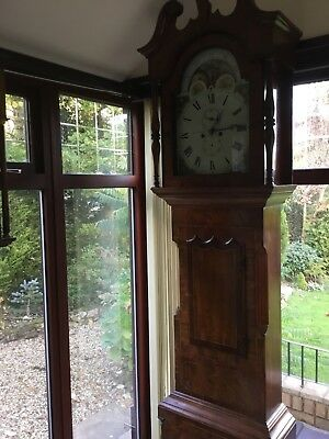 antique mahogany Stourbidge ,Moon dial grandfather Clock.
