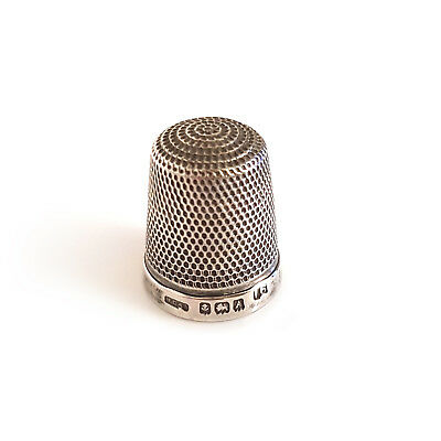 Solid Silver Antique Thimble - Henry Griffith & Sons Size 16