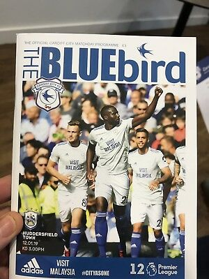 Cardiff City v Huddersfield Town Programme -12th January 2019-Mint